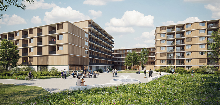 Voss Architects Espenhof Nord Competition Zurich main image